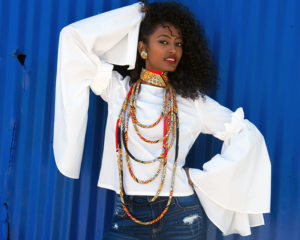 dashiki wrap necklace