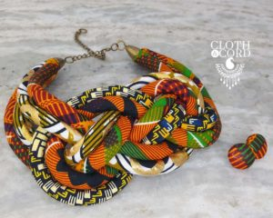 kente fabric necklce