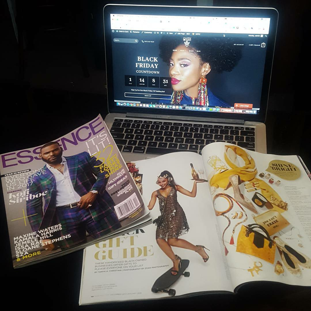 Feature in the December Issue of Essence Magazine