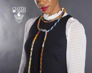 sahara ankara wrap necklace