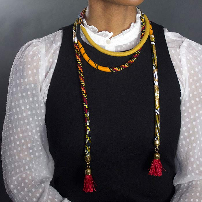 african wrap necklace