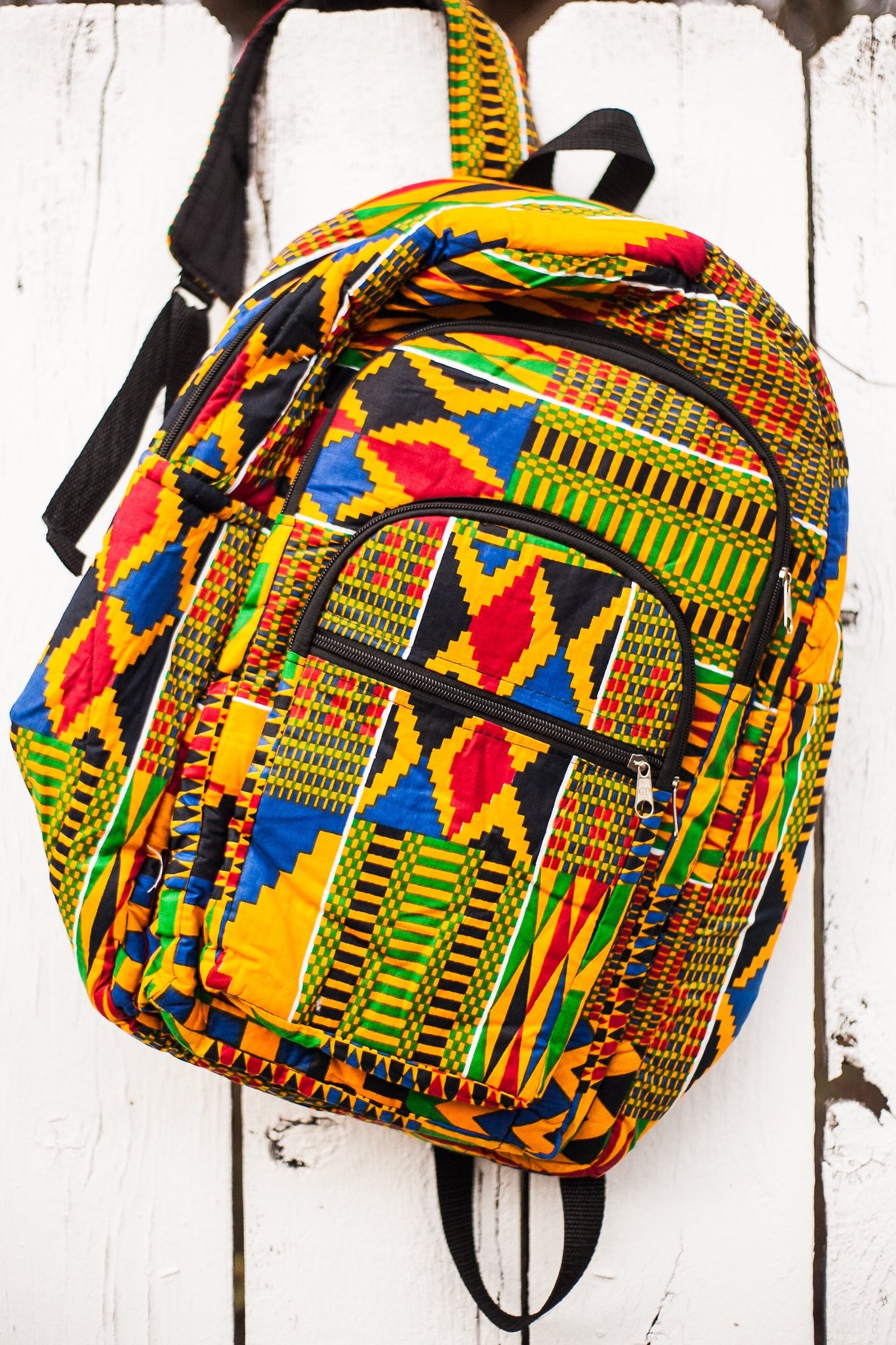 african kente backpack