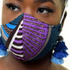 Face Mask | Purple Print Fabric Mask | Surgical Mask | General Purpose Unisex Mask | Cloth & Cord